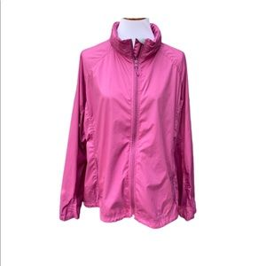L.L. Bean Women's Plus Size Pink Windbreaker 3X